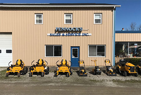 Pennock's Lawn and Garden carries a large selection of Cub Cadet Tractors as shown here.